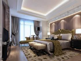欧式风格卧室吊顶装修效果图-欧式风格床图片