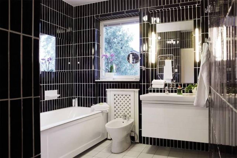 北欧风格农村二层小别墅浴室装修图片-北欧风格浴缸图片