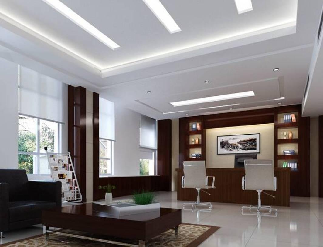 现代简约风格办公室吊顶装修效果图-现代简约风格椅凳