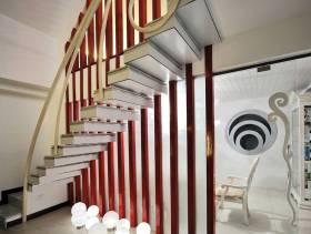 204㎡现代风格复式公寓客厅复式楼梯装修效果图-现代风格椅凳图片