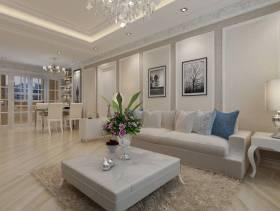80小户型现代风格客厅沙发背景墙装修效果图,现代风格白色茶几图片