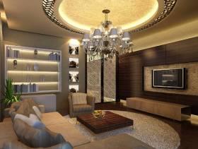 别墅小客厅电视背景墙装修效果图