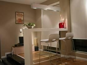 简约风格三居室客厅吧台装修效果图
