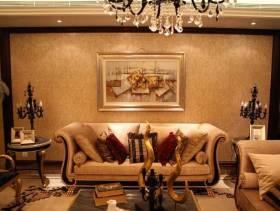 欧式风格客厅沙发背景墙装修效果图-欧式风格客厅沙发图片