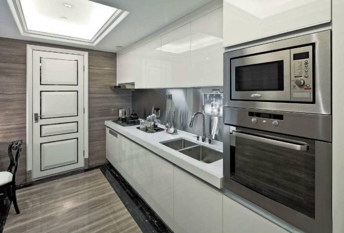 后现代风格三室两厅两卫厨房装修效果图,后现代风格三室两厅两卫橱柜