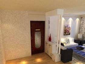 现代风格三居室客厅玄关装修效果图