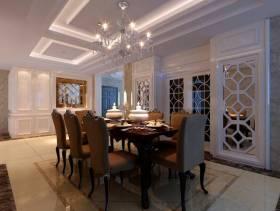205㎡复式楼欧式风格餐厅吊顶装修效果图-欧式风格餐椅图片
