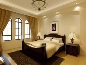 简约欧式风格卧室背景墙装修效果图-简约欧式风格床头柜图片