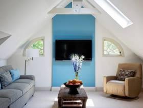 简约风格阁楼客厅装修图片-简约风格沙发椅图片