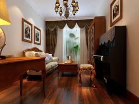 120㎡三居美式风格客厅沙发背景墙装修效果图-美式风格茶几图片