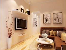 现代简约风格客厅电视背景墙装修效果图