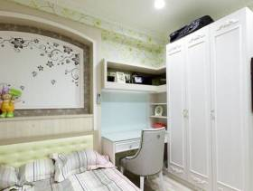 简约欧式风格卧室背景墙装修图片-简约欧式风格实木家具衣柜图片