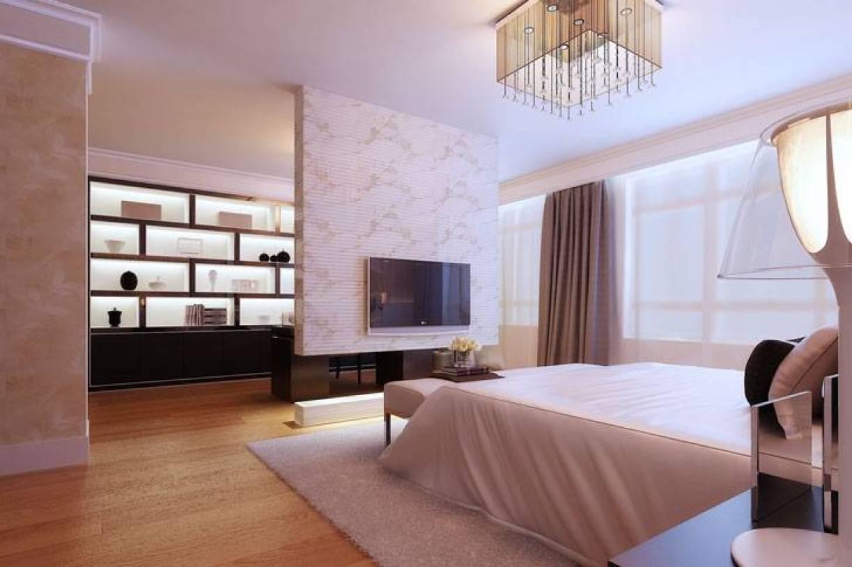 现代风格卧室隔断装修效果图-现代风格壁柜图片