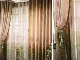 简欧风格阳台窗帘装修效果图-简欧风格窗帘杆图片