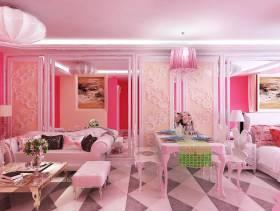 小户型现代风格客厅沙发背景墙装修效果图,小户型现代风格餐桌椅图片