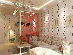小户型客厅田园风格装修效果图-田园风格沙发图片