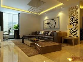 现代风格三居室客厅沙发背景墙装修效果图,现代风格吊顶图片