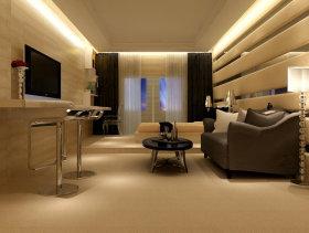 现代风格珠光金座样板房走廊装修效果图