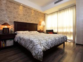 北欧风格卧室壁纸装修图片-北欧风格台灯图片