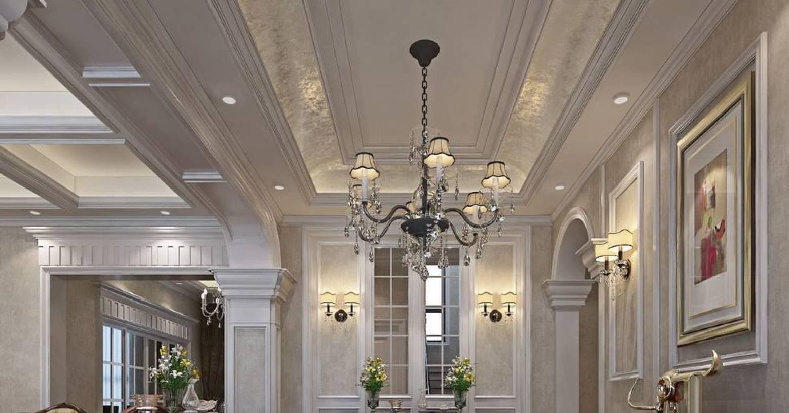欧式风格过道吊顶装修效果图,欧式风格壁灯图片