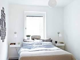 简约风格小户型公寓卧室装修图片-简约风格双人床图片