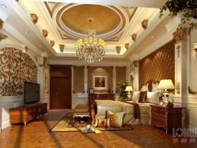 400㎡别墅欧式风格卧室吊顶装修效果图-欧式风格吊灯图片