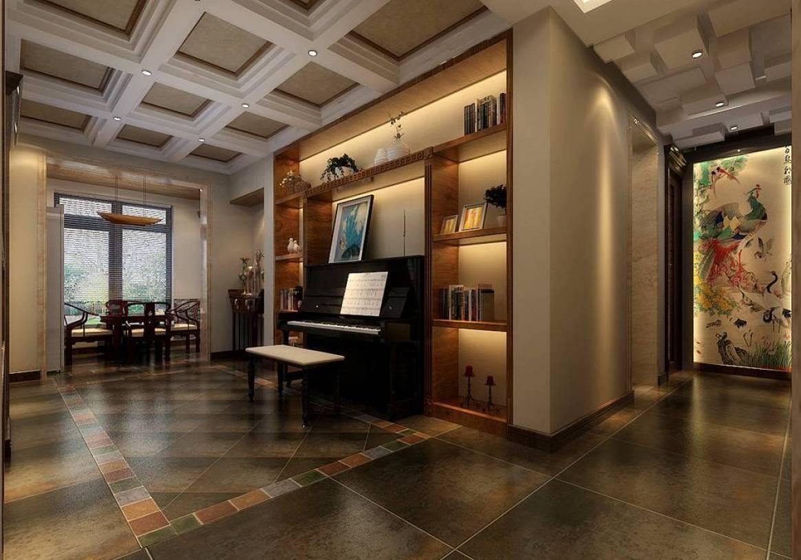 新中式风格琴房装修效果图