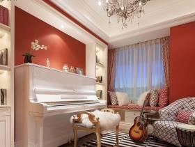 121㎡三居室简约欧式风格休息室窗帘装修效果图-简约欧式风格单人沙发图片