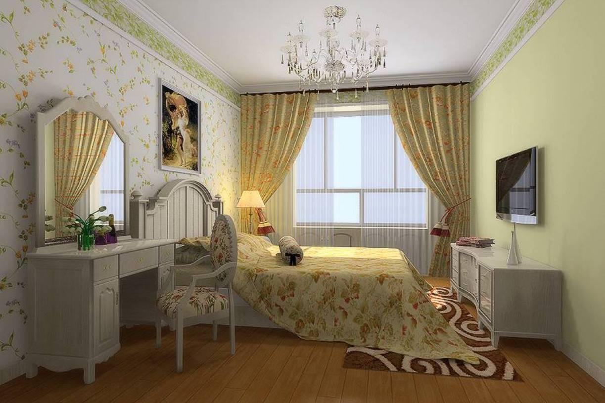 主卧室侧面整体装修效果图
