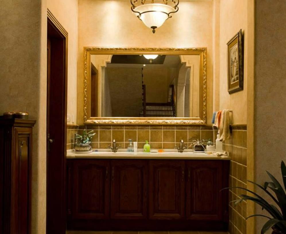 美式风格洗手间装修图片-美式风格面盆图片
