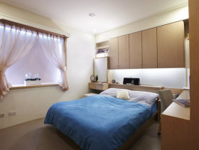 115平方米现代简约女生卧室装修效果图