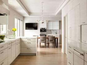 时尚厨房L型橱柜图片