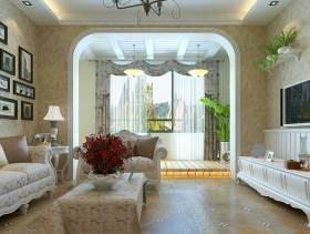 简欧风格客厅窗帘装修效果图-简欧风格单人沙发图片