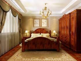 133平米美式乡村风格卧室背景墙装修效果图,美式乡村风格衣柜图片