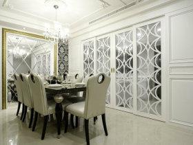 462平法式巴洛克别墅餐厅装修效果图