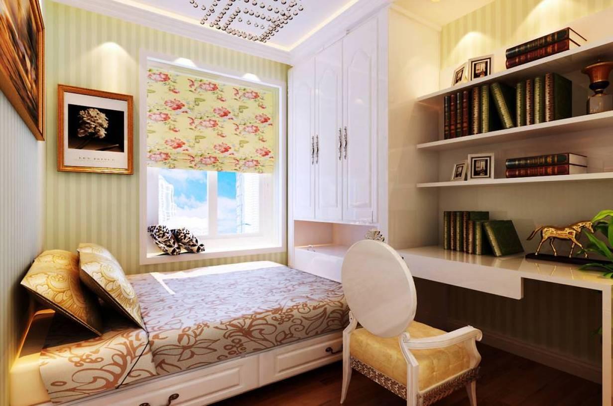 现代风格书房装饰画装修效果图-现代风格书桌图片