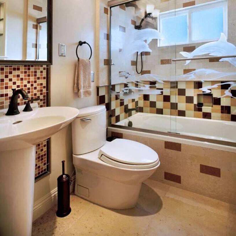 简约欧式风格洗手间浴缸细节装修效果图