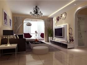 现代简约风格二居室客厅电视背景墙装修效果图,客厅方茶几图片