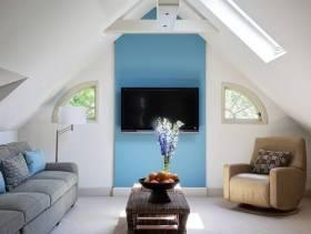 现代风格客厅电视背景墙装修图片