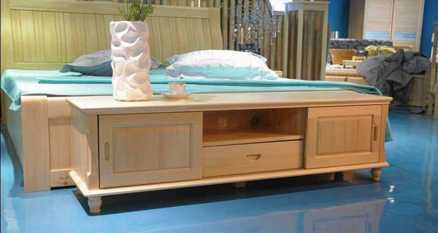 简约风格卧室装修效果图-简约风格贵人缘松木家具图片