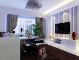现代简约风格62平小户型客厅装修效果图