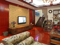 中式电视背景墙装修  享受古典韵味