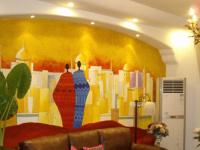 多彩手绘涂鸦墙,给你一个不一样的世界!