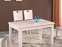 白色实木餐桌椅的选购技巧和保养方法