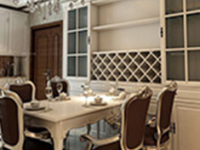 隔断又装饰 餐厅组合柜材质介绍