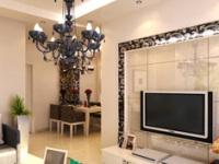 更好利用空间 餐厅与客厅隔断电视墙设计