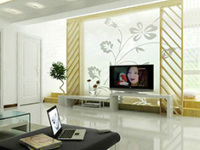 玻璃装饰电视背景墙整体规划该这么做!