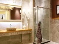 仿古砖铺成的卫生间居然可以这么美