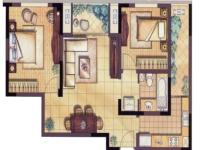 帝景天成·两室两厅  简约  全包13.5万