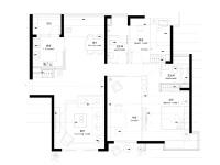 凤凰城·两室两厅  简约  半包5万